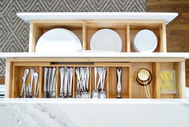 Spring clean it: kitchen drawer crumbs!