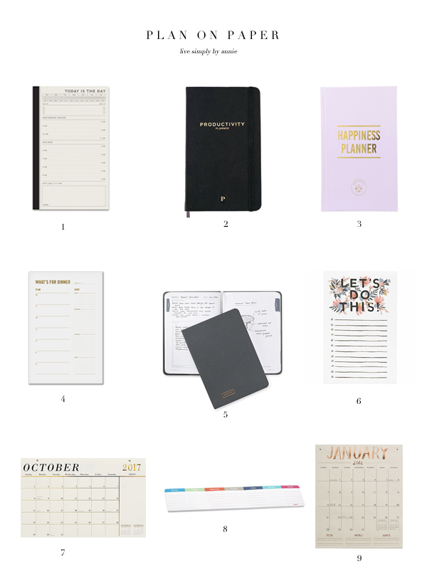 9 paper planners perfect for to do lists goal setting live