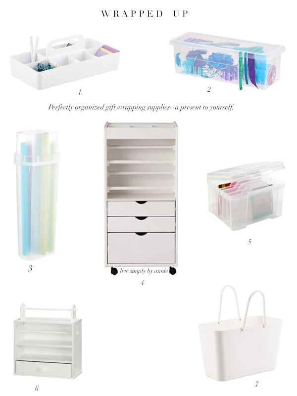 Essential organizers for gift wrapping supplies. This year, wrapping up the presents is going to be the easiest part.