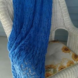 Crystal Blue Afghan