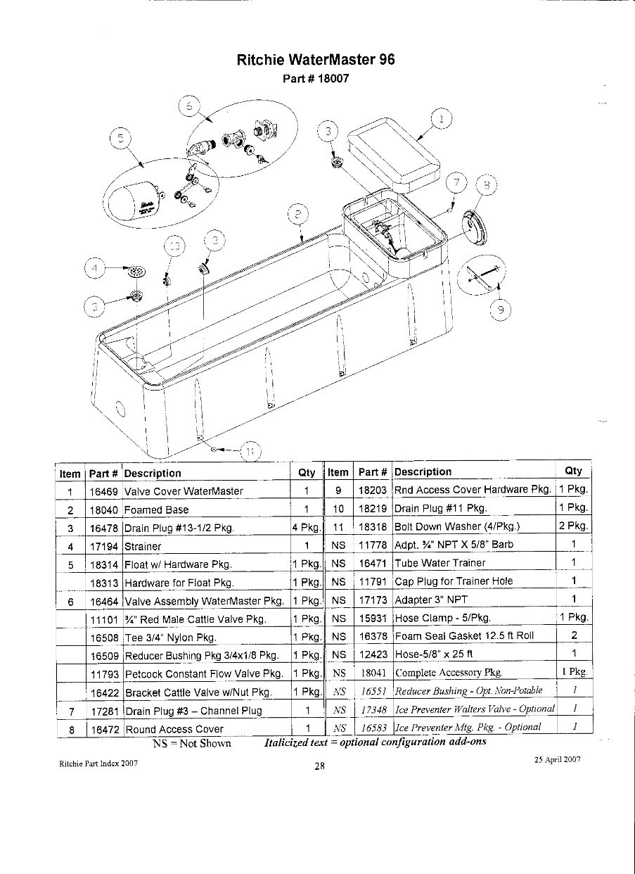 watermaster 96 parts