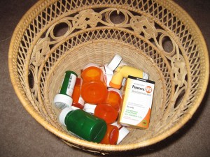 Drugs in trash