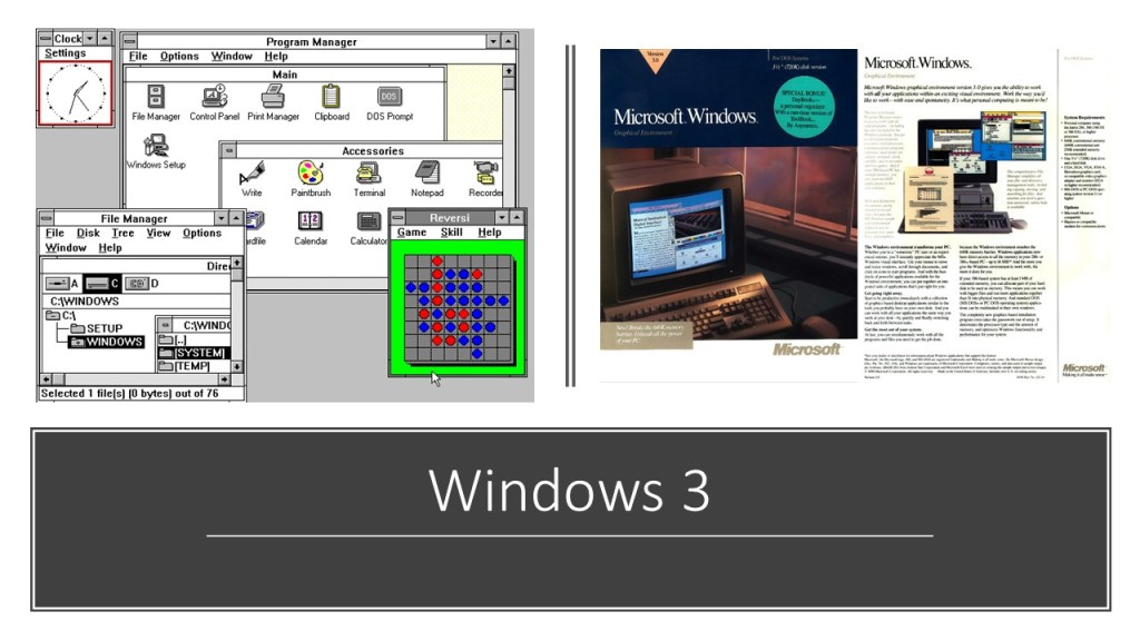 Une illustration de Windows 3
