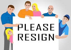 resign sign people quit or resignation from job government or president resign people means quit or clipart csp64351310 1