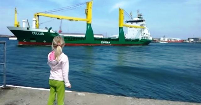 Μικρή κάνει πως κορνάρει σε πλοίο αλλά δεν περίμενε αυτό που ακολούθησε