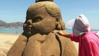 Γλυπτά από άμμο στην Κρήτη – Οταν η τέχνη πάει θάλασσα… (βίντεο)