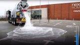 Άσφαλτος απορροφά σαν σφουγγάρι, 4000 λίτρα νερό σε ένα λεπτό! (Βίντεο).