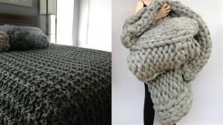 Πλέξιμο με τα χέρια: Φτιάξε απίθανα ριχτάρια και κουβέρτες μέσα σε 45 λεπτά