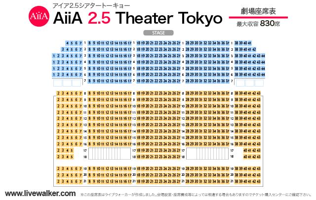アイア2.5シアタートーキョー 劇場座席表