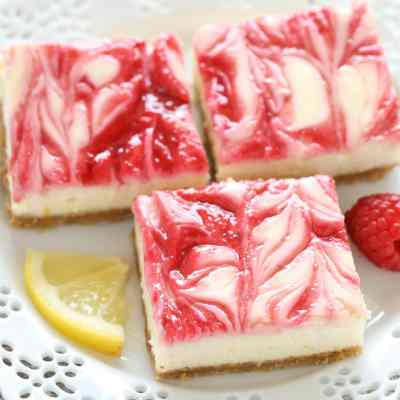Lemon Raspberry Cheesecake Squares