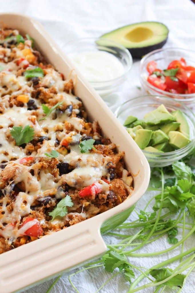 Tex-Mex Chicken and Quinoa Casserole