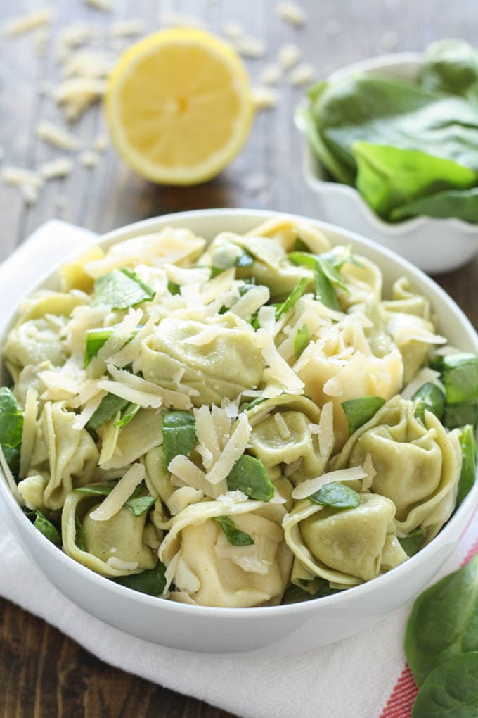 Spinach Artichoke Tortellini Salad