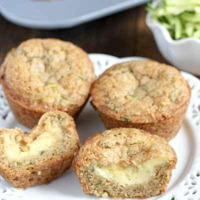 Cream Cheese-Filled Zucchini Muffins