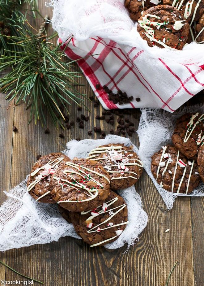 Chocolate Brownie Christmas Cookies