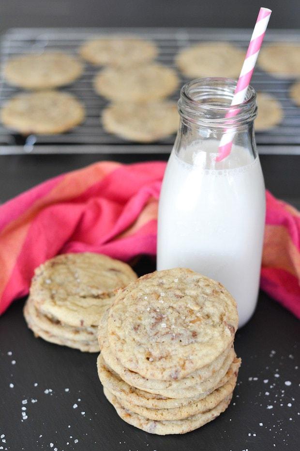 Salted Toffee Cookies