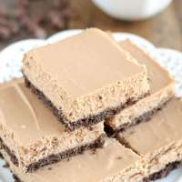 Skinny Mocha Cheesecake Bars