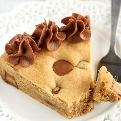 Peanut Butter Cup Cookie Cake
