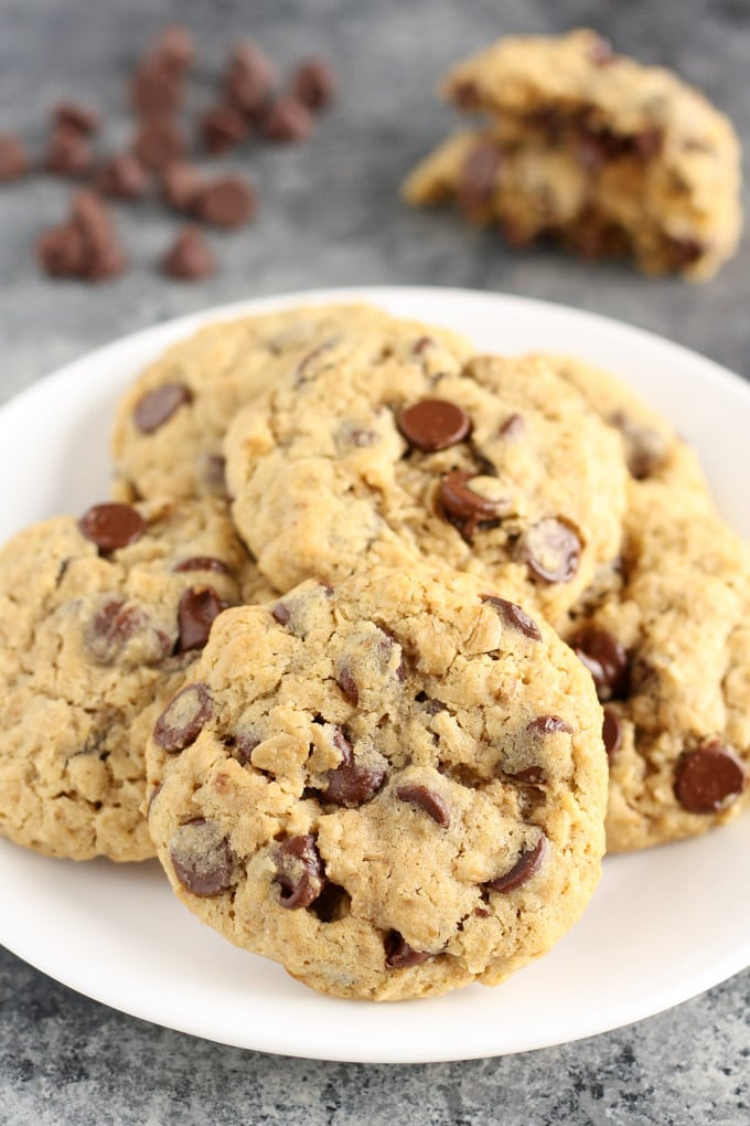 Small Batch Oatmeal Chocolate Chip Cookies Soft