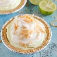 Mini Key Lime Greek Yogurt Cheesecake Pies