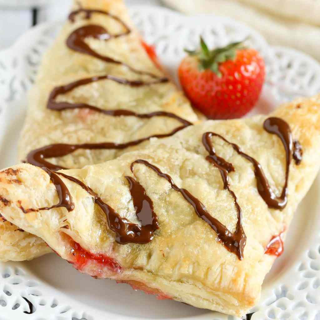 Chocolate Strawberry Nutella Turnovers - Live Well Bake Often