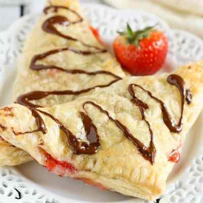 Chocolate Strawberry Nutella Turnovers