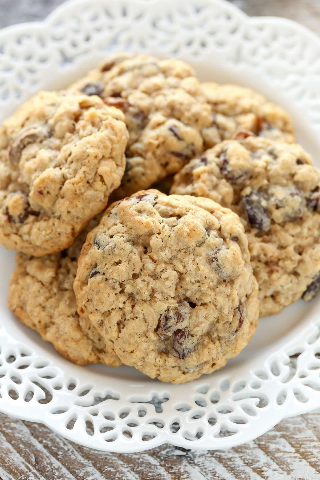 These Soft and Chewy Oatmeal Raisin Cookies are super soft, thick, and loaded with oats and raisins. These cookies are easy to make and so delicious!