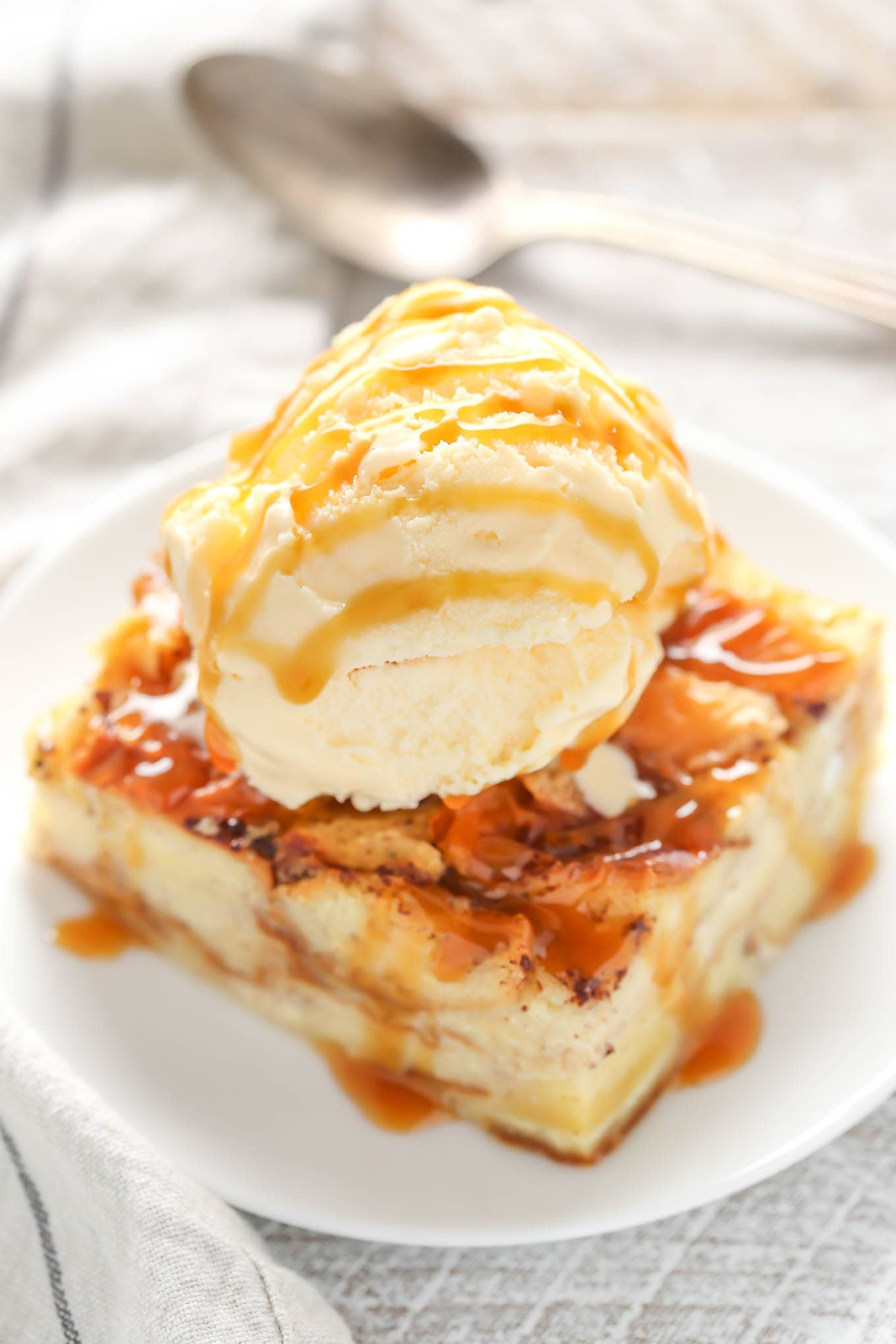 This bread pudding recipe is easy to make with just a few simple ingredients. This is one of our family's favorite recipes and perfect served with a big scoop of ice cream!