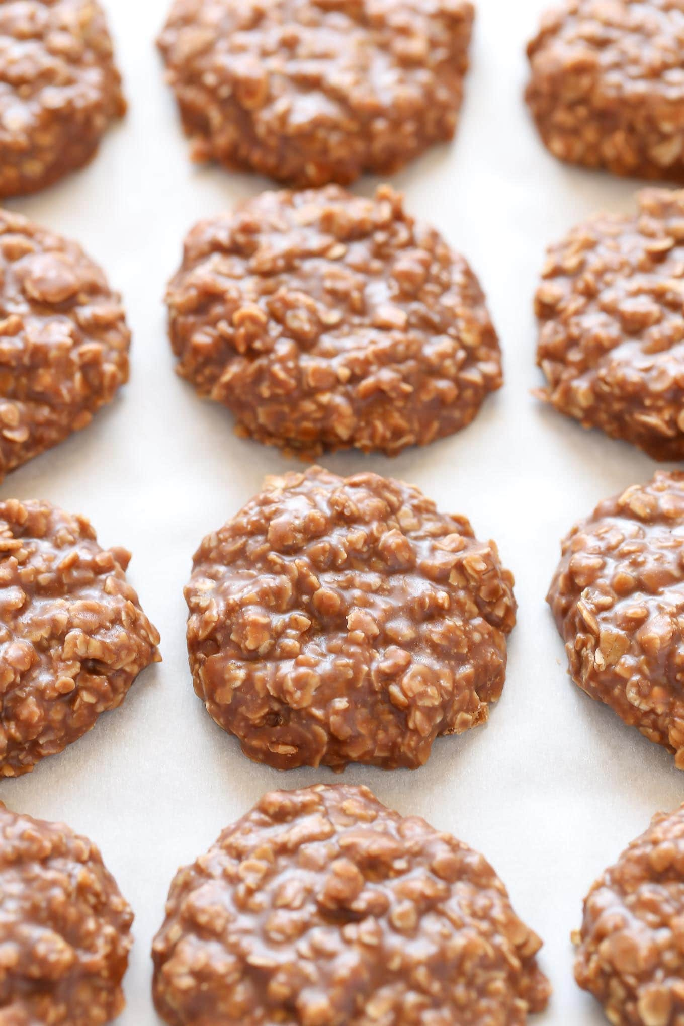 These Classic No-Bake Cookies only require a few simple ingredients and are incredibly easy to make. Loaded with peanut butter, oats, and cocoa powder, these cookies are perfect for an easy dessert!