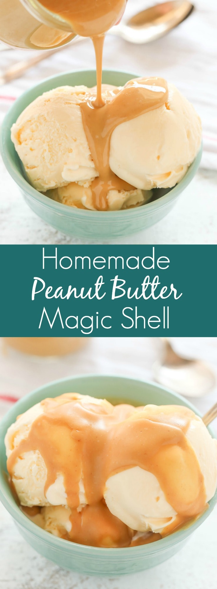 This Easy Homemade Peanut Butter Magic Shell only requires three ingredients and amicrowave. The perfect topping for almost any ice cream!