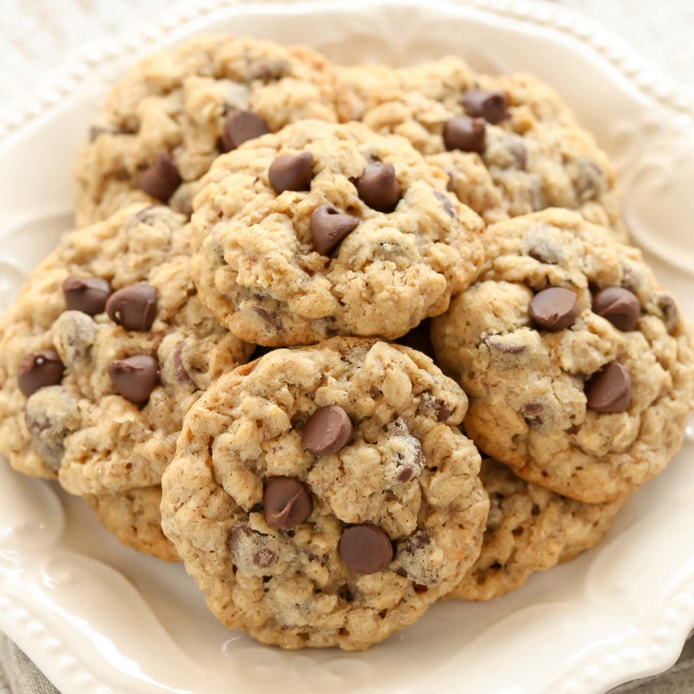 Soft And Chewy Oatmeal Chocolate Chip Cookies Live Well Bake Often