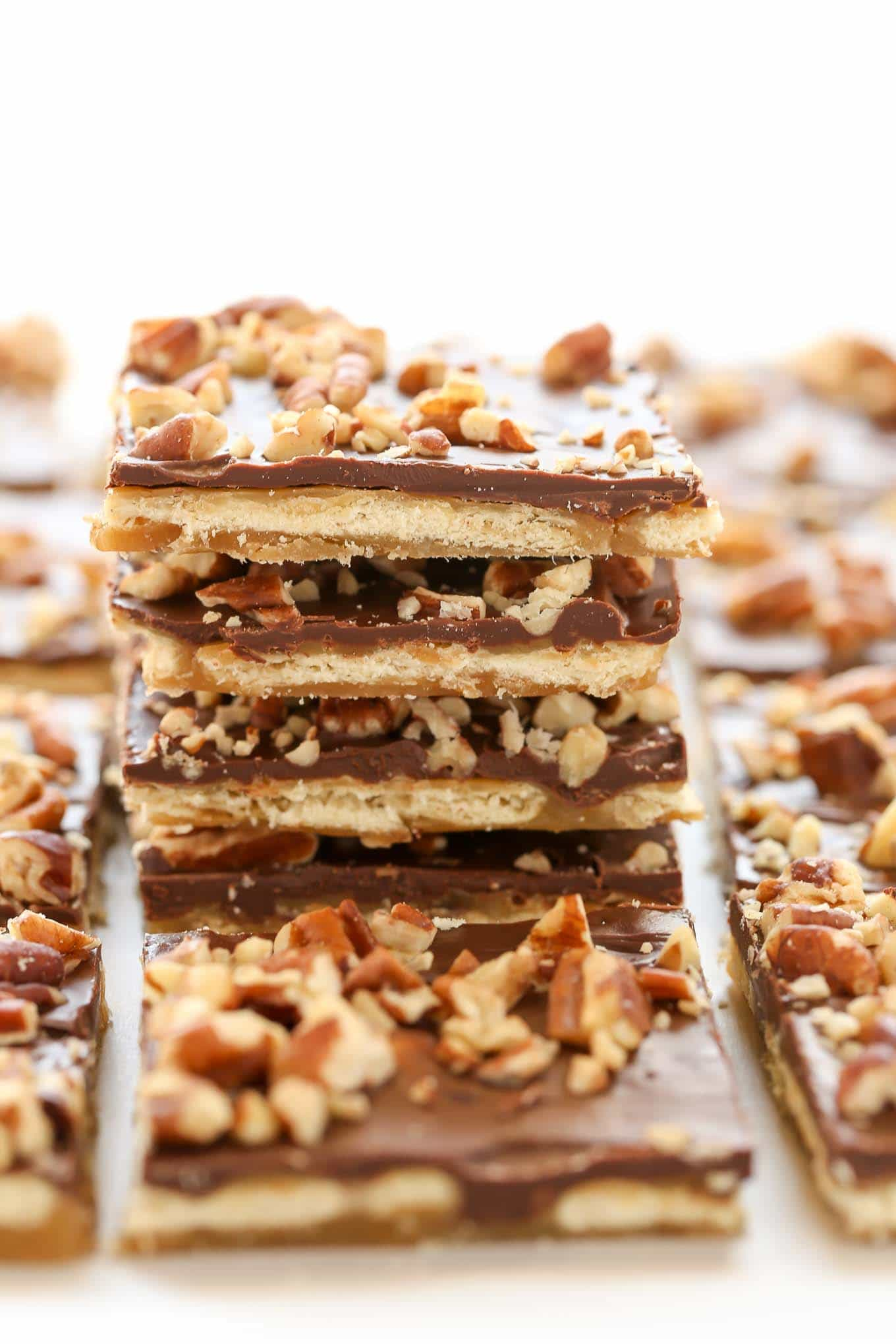 This Saltine Toffee candy is made with just 5 ingredients and so easy to make. Perfect for an easy treat during the holidays!