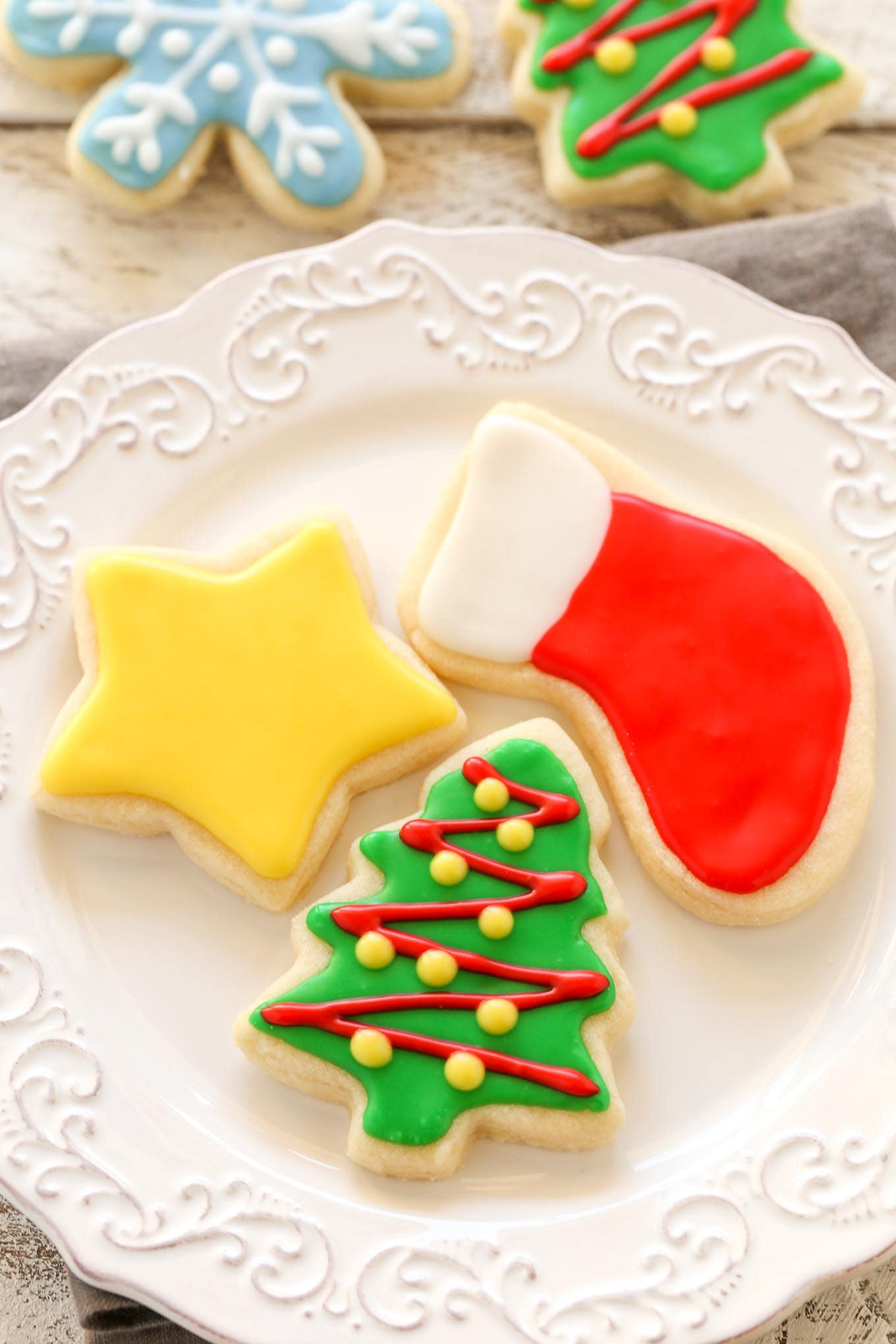 Soft Christmas Cut,Out Sugar Cookies