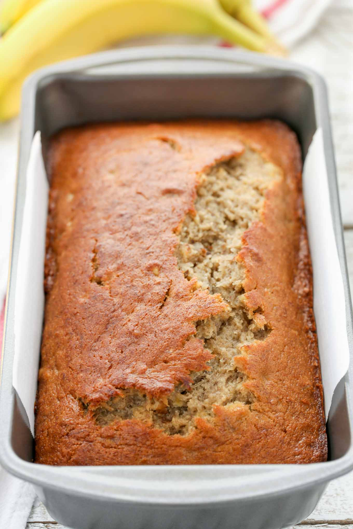 banana bread recipe moist classic sweet nut breakfast flavor walnuts plain recipes bananas chocolate livewellbakeoften overripe perfect bunch perfectly sitting