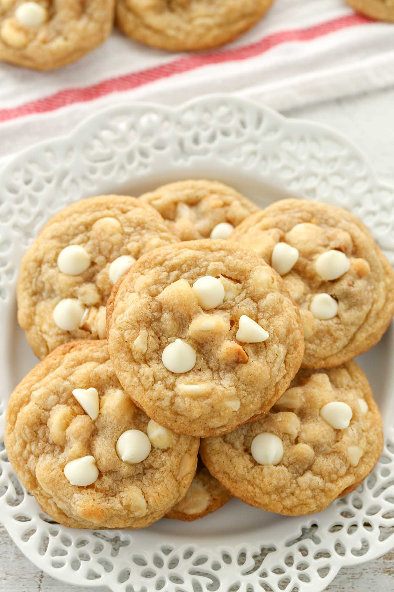 These White Chocolate Macadamia Nut Cookies Have Slightly Crisp Edges With Soft And Chewy Centers