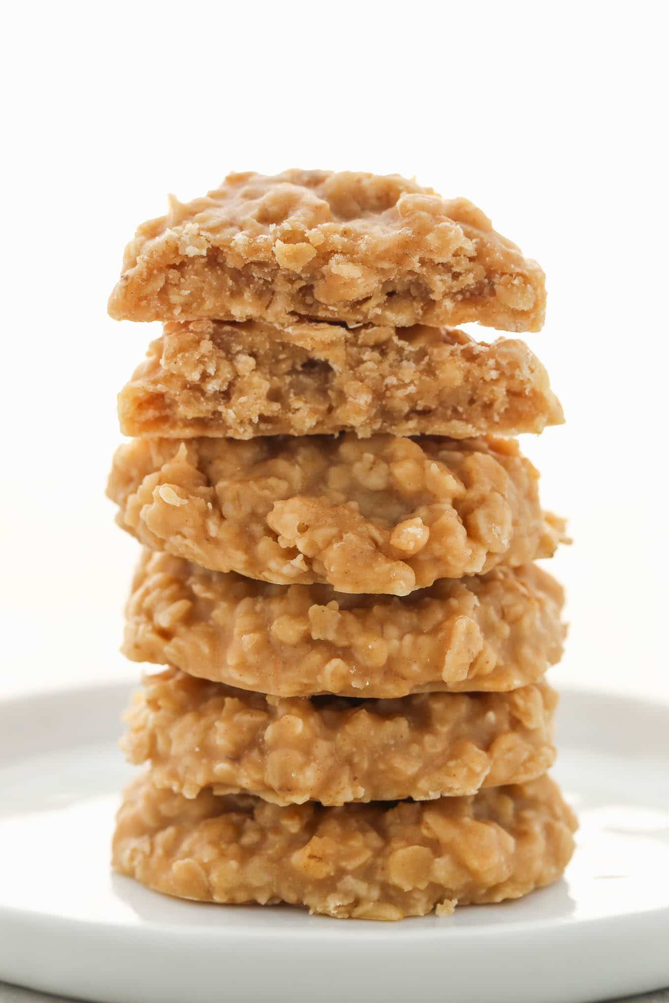 These Peanut Butter No-Bake Cookies are full of peanut butter flavor, only require a few simple ingredients, and are incredibly easy to make!