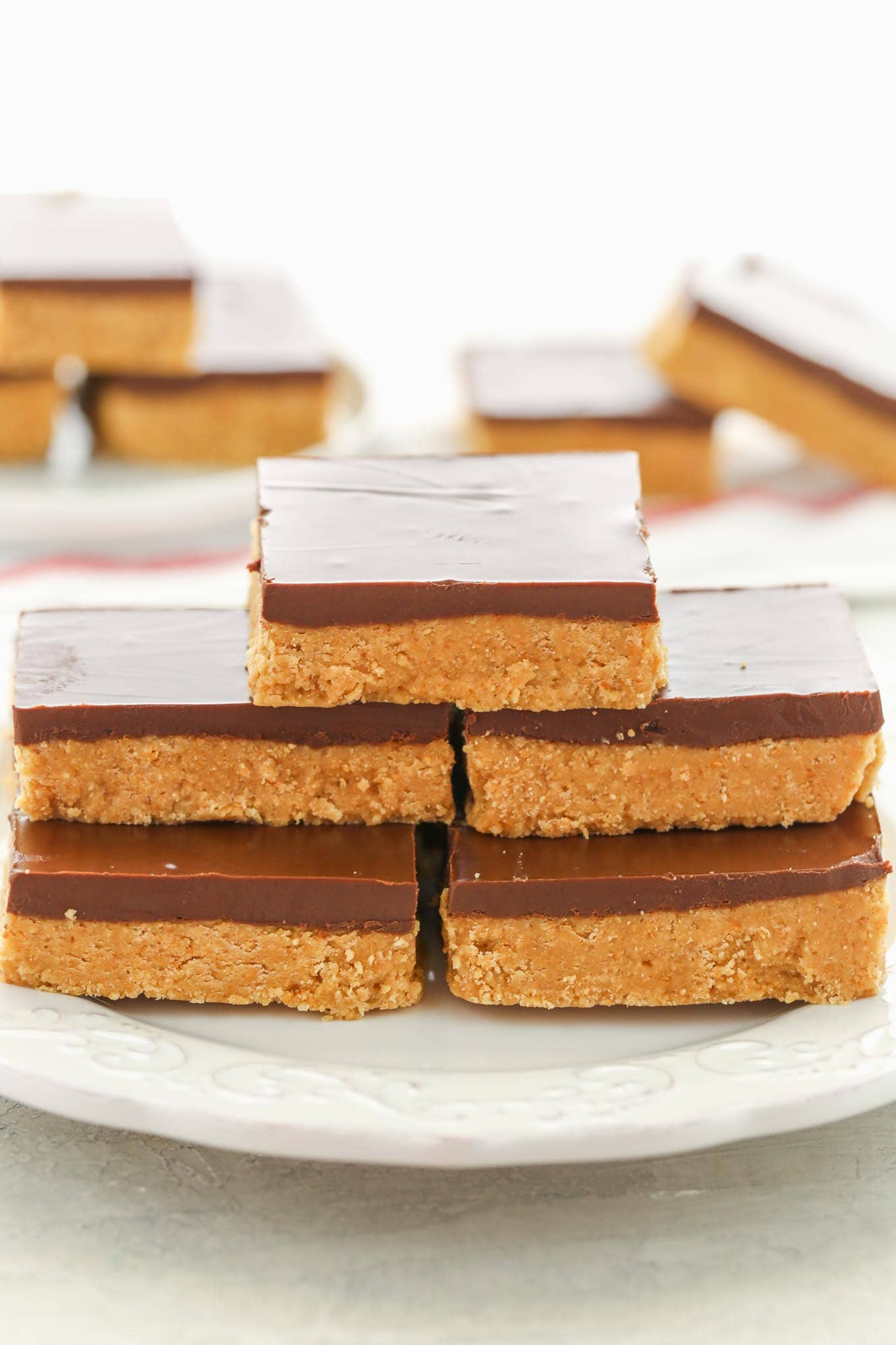 No,Bake Chocolate Peanut Butter Bars , Live Well Bake Often