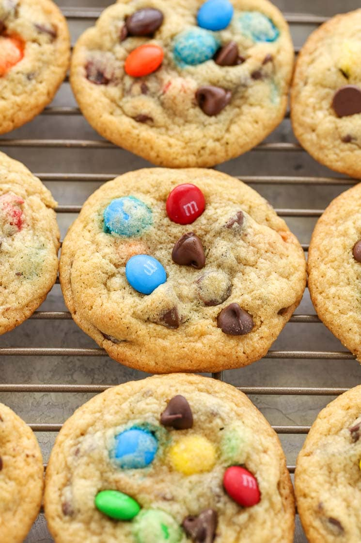 Soft and chewy cookies filled with M&Ms and chocolate chips. These M&M Chocolate Chip Cookies are easy to make and turn out perfect every time!