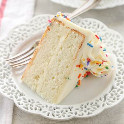 The BEST White Cake Recipe