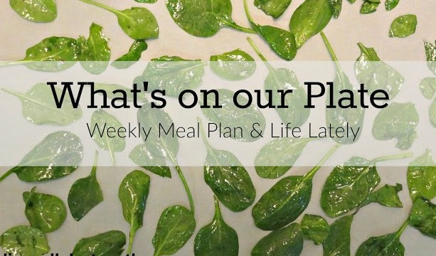 What's on our Plate: Weekly Meal Plan [4]