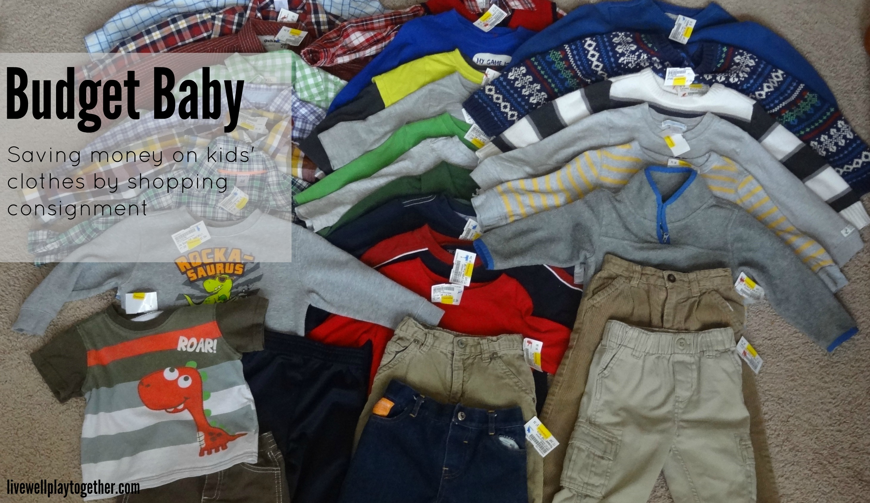 Budget Baby Saving Money By Shopping Consignment For Kids Clothes