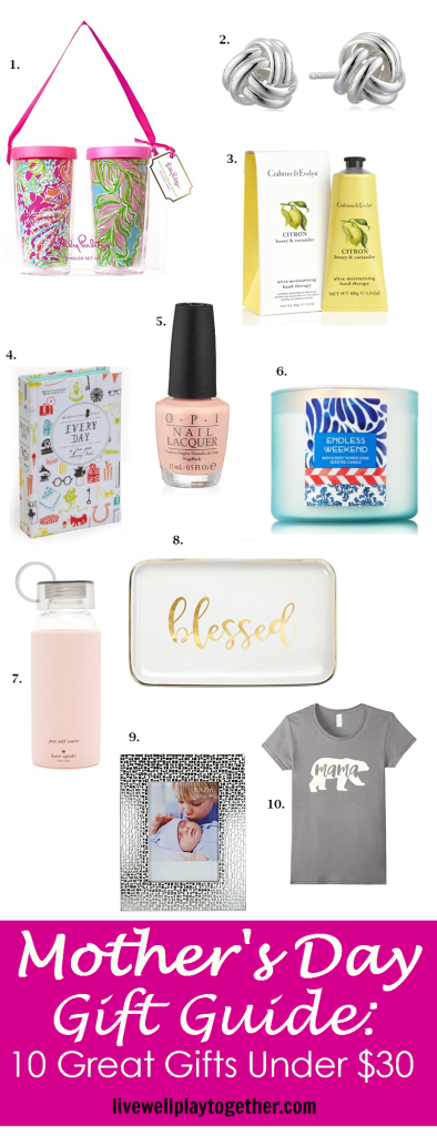 Mother's Day Gift Guide: 10 Great Gifts Under $30!