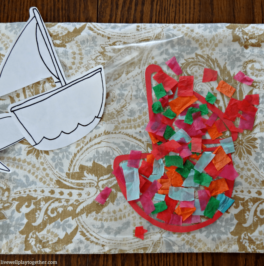 DIY Tissue Paper Sun Catchers - Fun & Easy Craft for Toddlers and Preschoolers!
