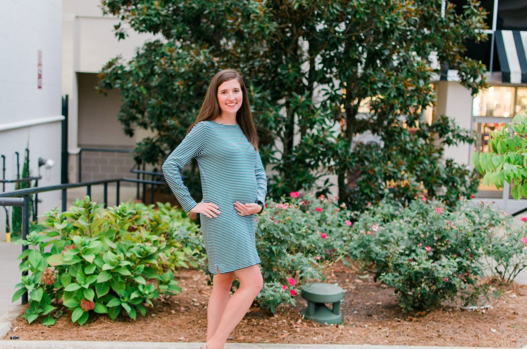 Navy & White Striped Shift Dress - Versatile pieces like this are perfect for transitioning to your fall wardrobe!
