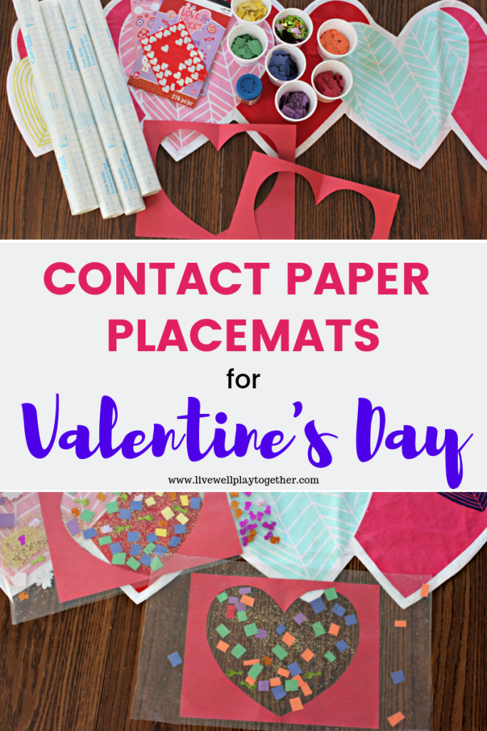 Mosaic Hearts Contact Paper Placemats For Valentine S Day Live