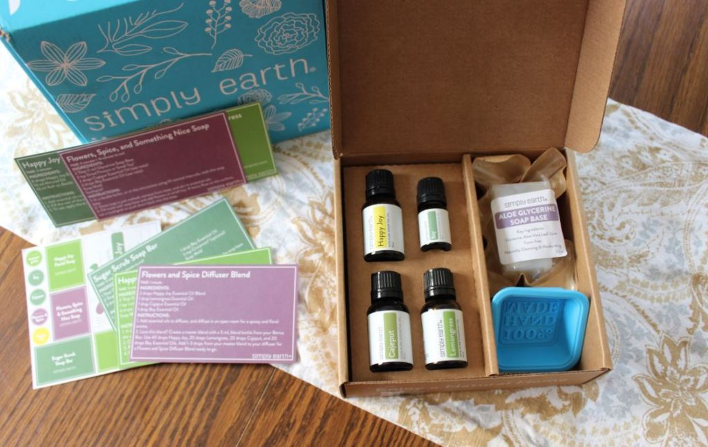 Simply Earth Essential Oils Recipe Box Review | September