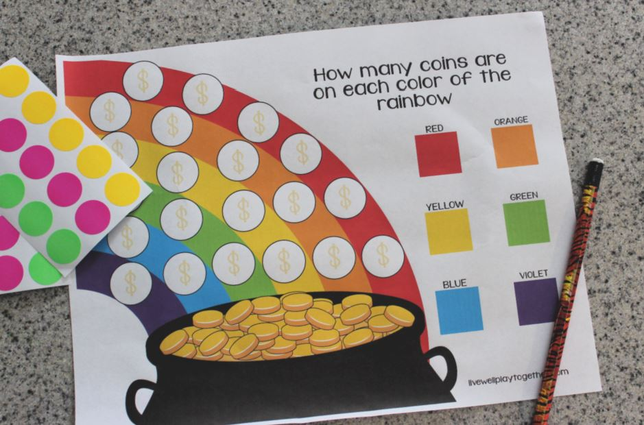 Rainbow Counting Activity For Preschoolers - Live Well Play Together
