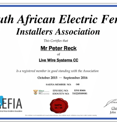 electrical wiring certificate south africa wiring diagram for you electrical wiring certificate south africa electric fencing [ 2339 x 1654 Pixel ]