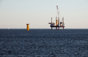 Building a wind farm at sea