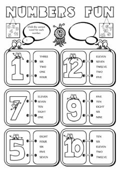 Numbers Interactive worksheets