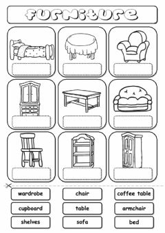 English Exercises: Parts of the House and Furniture